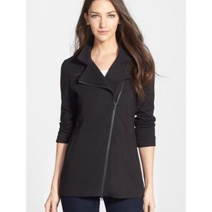 Eileen Fisher Long knit moto jacket